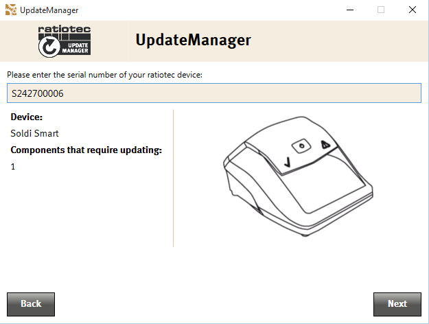 Update manager preview of update process